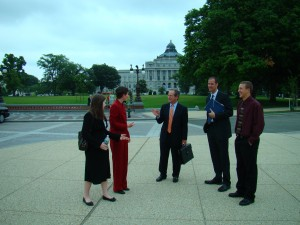 Students talk to lobbyist in Washington, D.C.