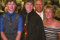 Vince and Denise with their sons V.J. and Devin, both Central students