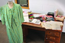 Mina always brought stacks of items with her to class, such as cookbooks, textiles and sketches.
