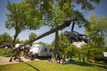 Tyler Wentworth and the the  dphilms crew filming at a campground.