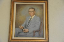 This painting of John Hospers 39 hangs in the philosophy library at the University of Southern California, where he taught for many years.