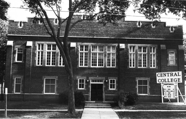 The old gymnasium was turned into the Drama Workshop in 1970. It stood near where the Chapel is now. When Martin Luther King, Jr. visited campus in 1967, he spoke to a large crowd in the gymnasium. The microphone he used is still in the library's archives.