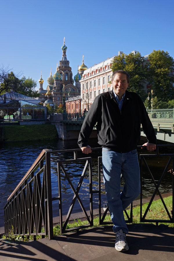 Paul Richardson '84 in St. Petersburg, Russia, in 2012. Photo by Svetlana Shchekina