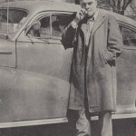 Smoking wasn't allowed on campus, but Peace Street didn't count. Street-side smoking was a common occurrence for men such as Norman Loats '47 in the 1940s.