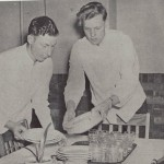 The dining room was complete with china and waiters, including Fred Buseman '44 and LaVerne Flikkema '44.
