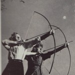 Intramural sports for women were popular and sometimes unconventional, like archery.