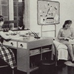 Life in the residence hall wasn't much different than it is now—minus the electronics.