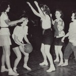Although women's intercollegiate sports didn't exist in the 1940s, women still competed with passion and skill in intramural athletics.