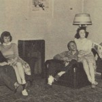 The parlor of Graham Hall was a favorite place for couples to talk, play games and even make out.