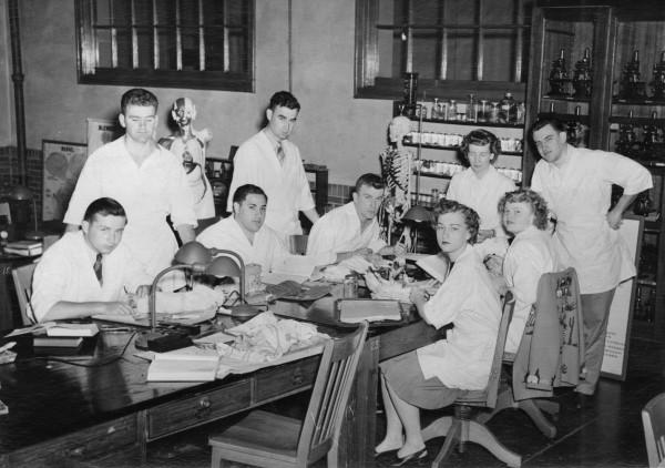 biology class 1940