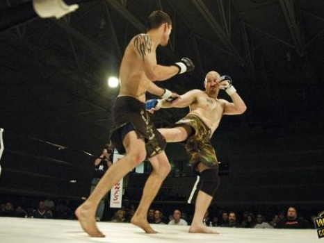 Breadon competing in mixed-martial arts.