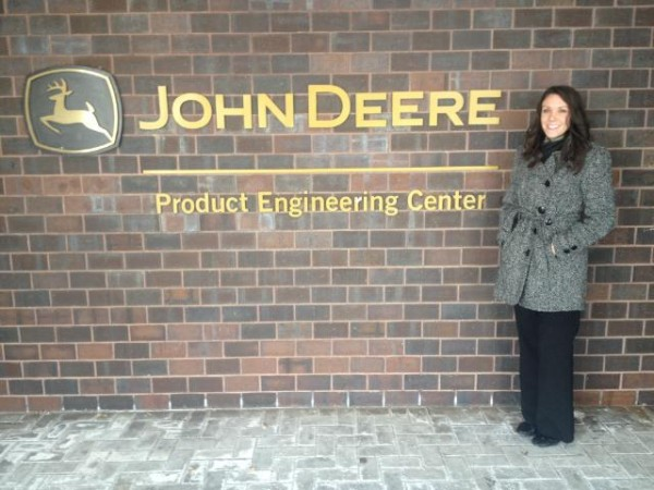 An internship with John Deere during her senior year led Caitlin Kouba '12 to a full-time job that has her living all around the country. As a former volleyball player and star student, Kouba is putting her Central degree to good use.