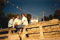 Mattlace, Suzanne Corley, and Ann Sobiech Munson '91 visit Chiapas, Mexico, in 1988.