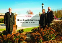 President Mark Putnam helped dedicate the Helen Jean Hislop Center, along with Greg MacMillian (Hislop's cousin) and wife Patty.