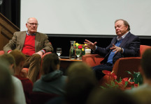Harry Smith '73 held a discussion with Harold Hamm, CEO of Continental Resources, that included questions from students.