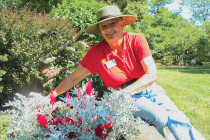 Karen Heringer donated her time over the summer to spruce up campus.