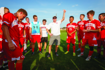Veteran men's soccer coach Garry Laidlaw provided a lot of instruction for a young squad. The Dutch will return nine starters next fall.