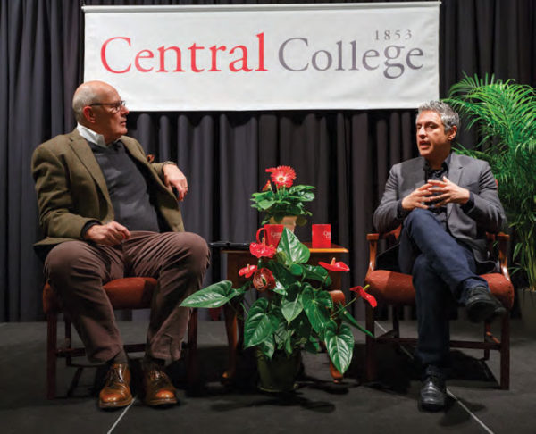 Harry Smith '73 interviewing acclaimed author Reza Aslan