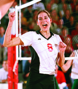 Candace Wilson DuRegger '01 was the Division III national volleyball player of the year in 2000 and led the Dutch to three national titles.