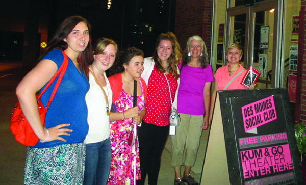 Students spent the summer in Des Moines focusing on social justice. Photo of students, left to right: Michaela Van Dusseldorp '18, Hope Skeen '18, Marissa Hirschman '16, Samantha Moss '18, Associate Professor of English Kim Koza and Hannah Marcum '18.