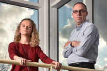 Kylie Gerstein and assistant professor of sociology Shawn Wick
