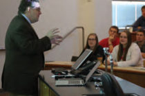 Peter Keating of ESPN The Magazine spoke to students about data and sports.