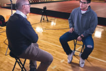 Harry Smith interviewed Jaime Miranda on campus.