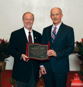 President Mark Putnam and Graham Lemke.