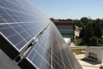 Solar panels on the Roe Center