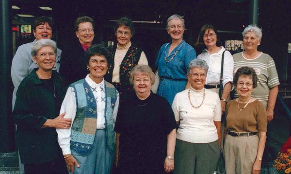 Row 1: Lori, Marlys, Peggy, Ruth, Arlys. Row 2: Vera, Nella, Darlene, Elaine, Barb, Doris.