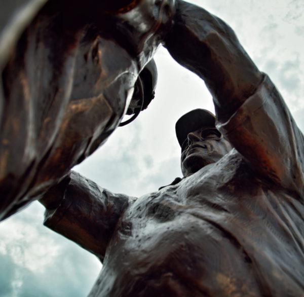 Sculpture of coach Ron Schipper