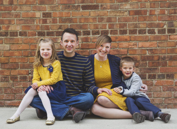 Heiting-Doane balances volunteering with his job and family time with wife Jana and their two children.