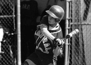 Softball third baseman Donell Hotze Kvaal '00