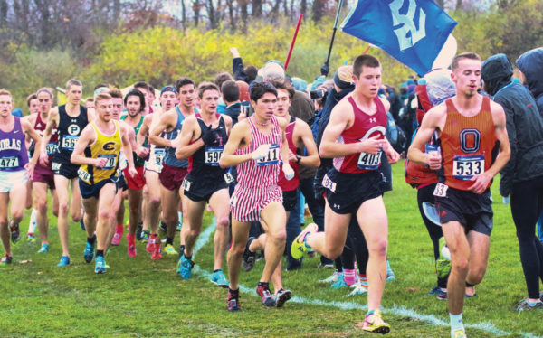 Senior Mark Fairley raced to the NCAA Division III Central Region men's cross country crown and all-America honors.
