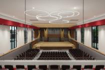 Render of Douwstra Auditorium renovations.