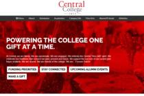 Screenshot of the redesigned Alumni website