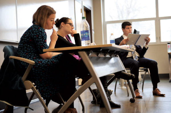 Central College hosts the Dr. Donald P. Racheter Mock Trial Invitational each winter, hosting teams from across the region. This January, Karleigh Miller '13 served as one of the judges at the annual event.