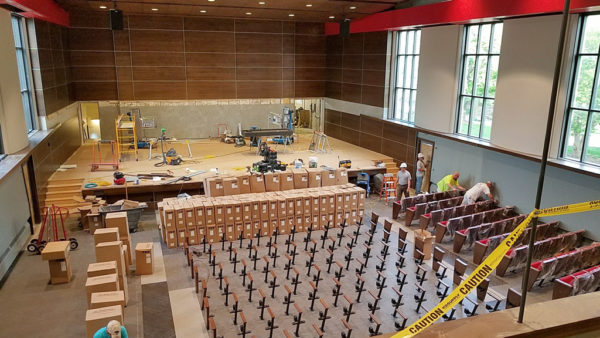 Return to campus to see a completely renovated Douwstra Auditorium during Homecoming, Sept. 28-30.