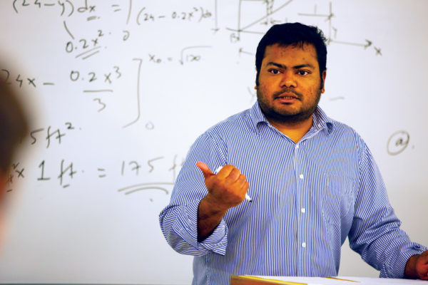 "Lecturer in Physics Puneet Vishwakarma says: ""Central's program is as rigorous as any other. The capstone design course is comparable in intensity to engineering universities. The internship opportunities are accessible and provide excellent hands-on experience."""