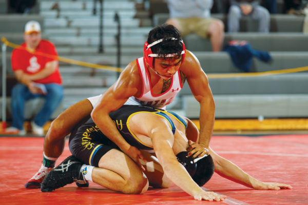 C.J. Pestano '18 was undefeated at 125 pounds in the regular season and finished his career as Central's second three-time all-America honoree.