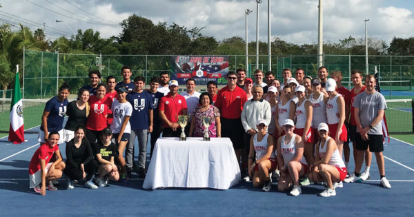 The Augie Lugo International Tennis Tournament featured tennis squads from Central College and the Universidad Marista de Mérida. Central alumni, along with friends and family of the late Augie Lugo '84, attended the tournament.