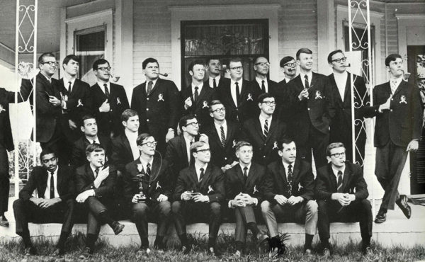 This photo, taken around 1969-70, shows the fraternity during its earliest days.