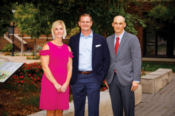 Libby Hysell Carlton '03, Tony Brownlee '02 and Andrew Paulson '98 were inducted into the Central College Athletics Hall of Honor at Homecoming in September