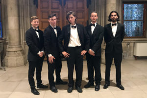 Male Vienna program participants dressed for the ball.