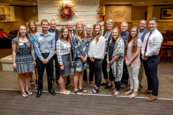 Central's 2018 Geisler Penquite scholars.